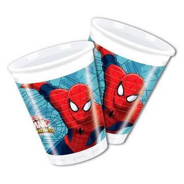Spiderman Web-Warriors Bekers - 8 stuks