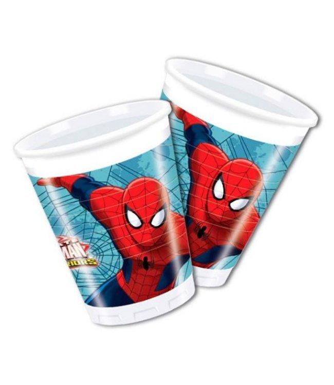 Spiderman Web-Warriors Bekers - 8 stuks