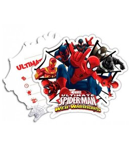 Decorata Party Spiderman Web-Warriors Uitnodigingen - 6 stuks