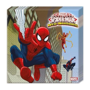 Spiderman Web-Warriors Servetten - 20 stuks