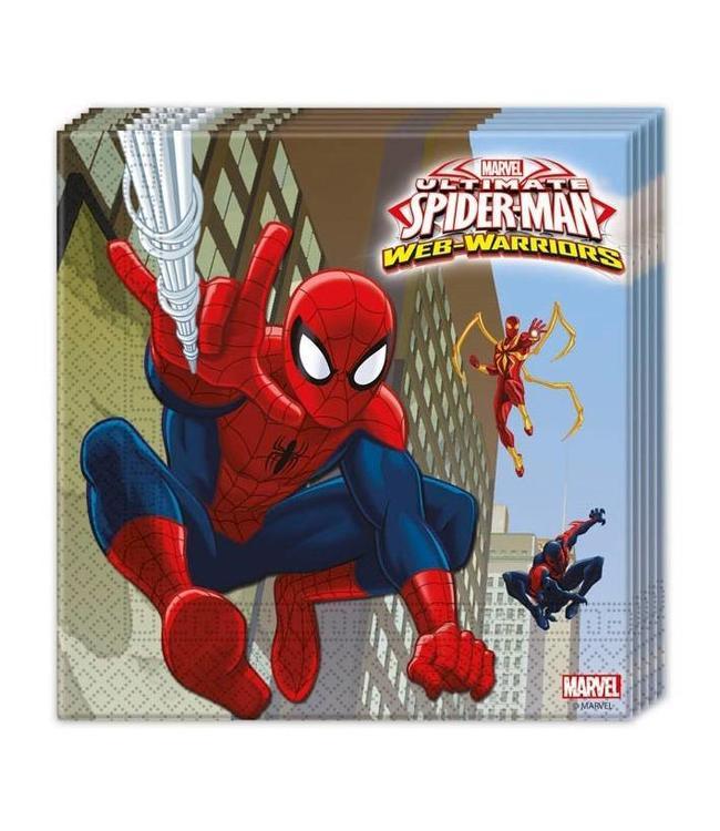 Spiderman Web-Warriors Servetten - 20 stuks