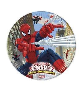 Decorata Party Spiderman Web-Warriors Borden - 8 stuks - 23 cm