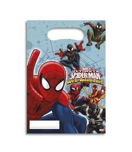Decorata Party Spiderman Web-Warriors Uitdeelzakjes - 6 stuks