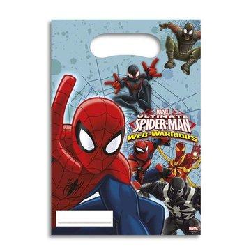 Spiderman Web-Warriors Uitdeelzakjes - 6 stuks