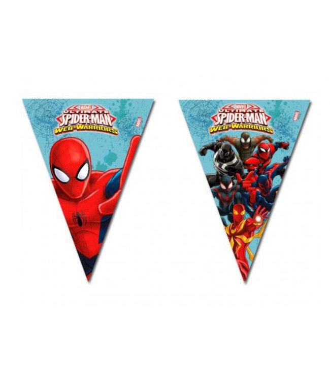 Spiderman Web-Warriors Vlaggenlijn - 2,3 meter - plastic