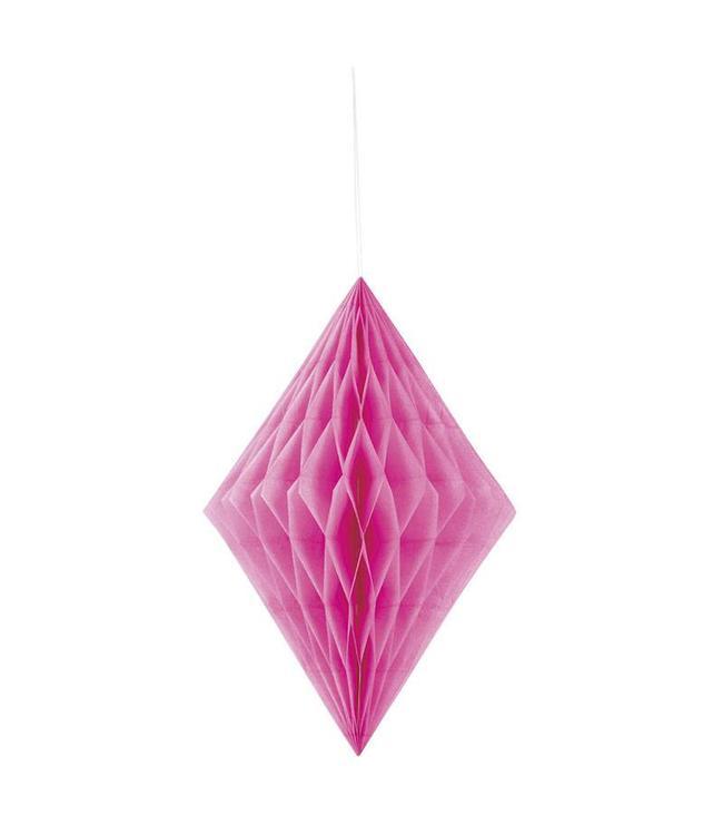 Unique Honeycomb Diamant Roze - 36 cm