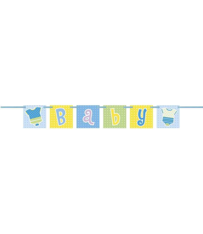Unique Baby Rompertjes Jongen Letterslinger - 1 meter - karton