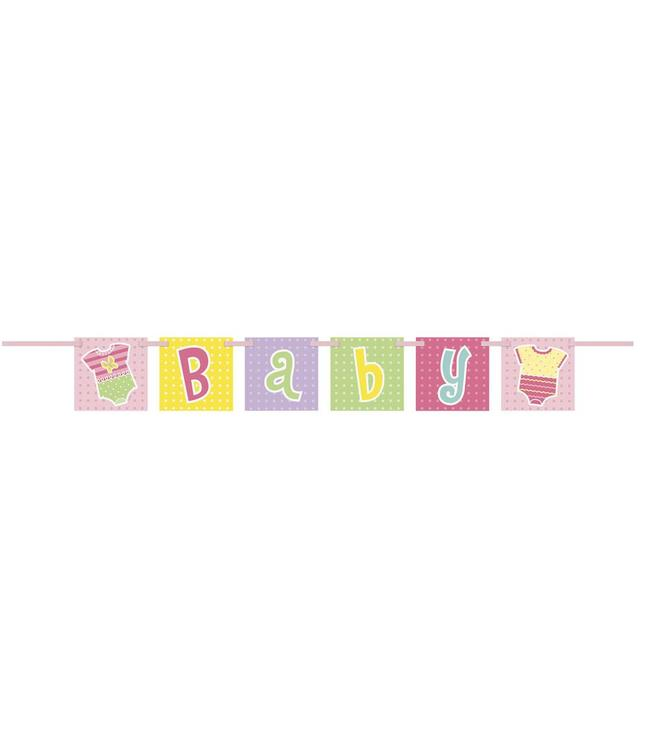 Unique Baby Rompertjes Meisje Letterslinger - 1 meter - karton