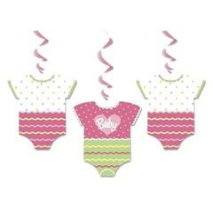 Unique Baby Rompertjes Meisje Hangdecoraties - 3 stuks