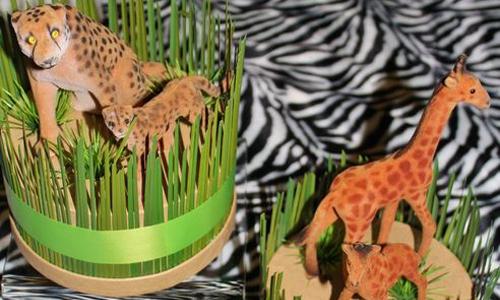 Zebra tafelkleed safari feest