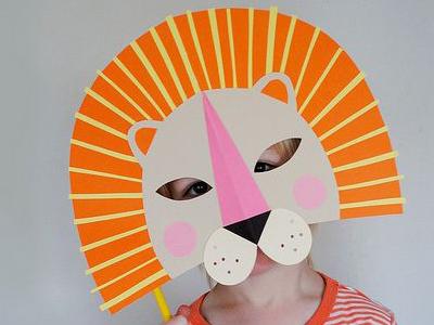 Masker leeuw papier