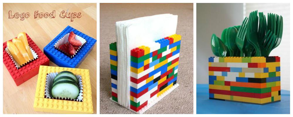 LEGO snackbakjes servethouder bestekhouder