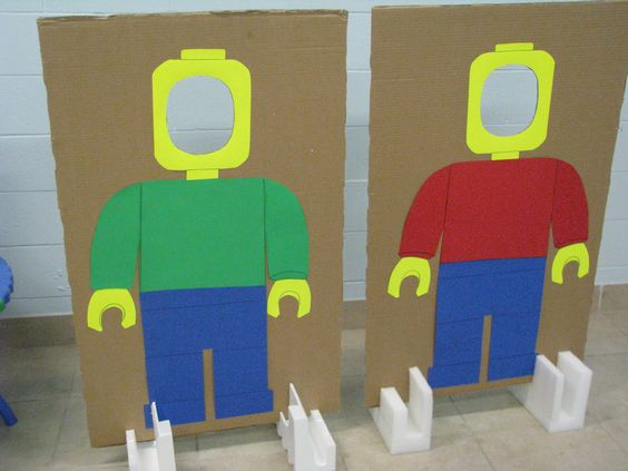 LEGO photo props fotowand