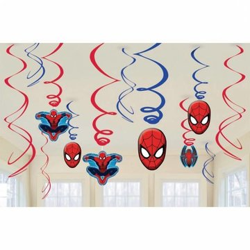 Amscan Spiderman Hangdecoraties - 6 stuks