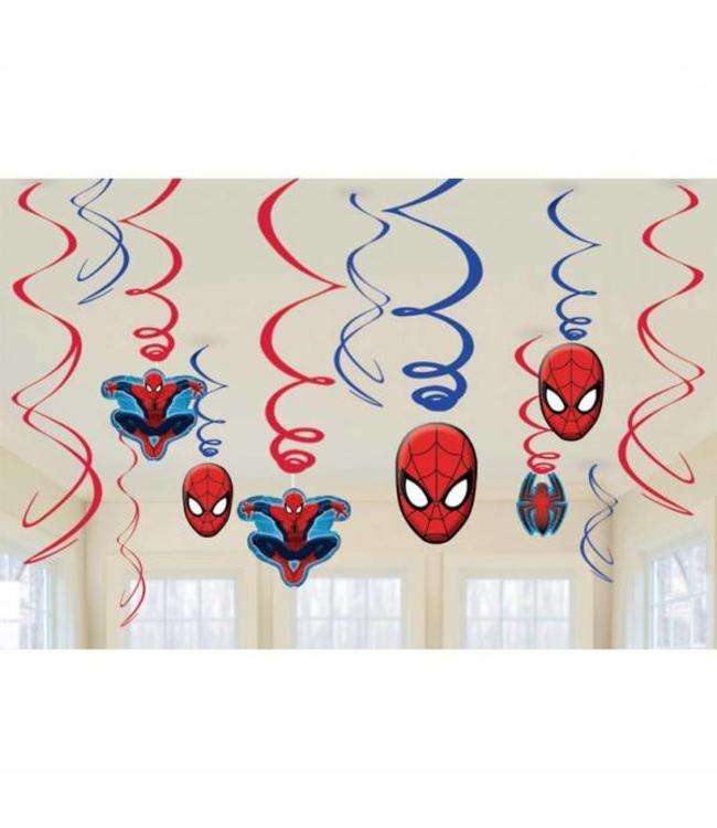 Amscan Spiderman Hangdecoraties - 6 stuks