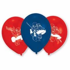 Amscan Spiderman Ballonnen (2 kleuren) - 6 stuks - 23 cm