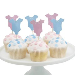 Ginger Ray Little Lady or Mini Mister Cupcake Toppers - 12 stuks