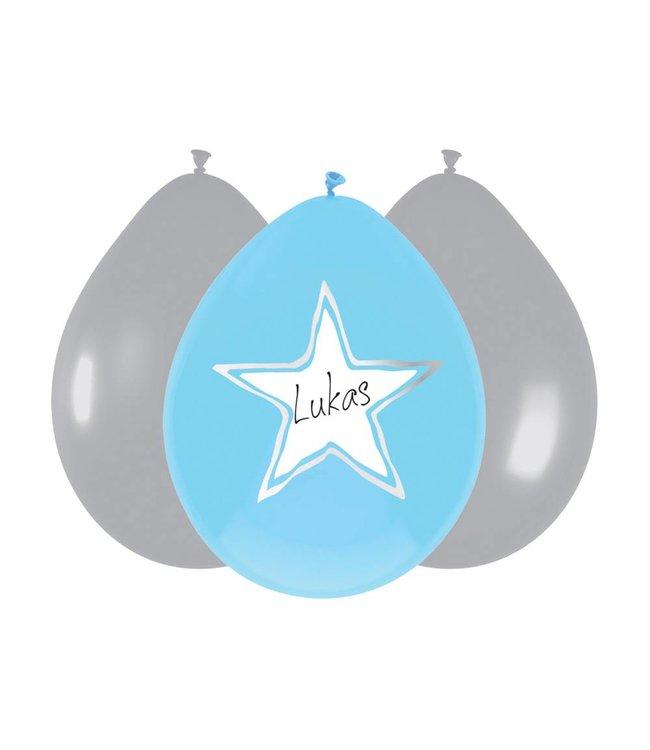 Haza Baby Boy Ballonnen (Writable) - 6 stuks