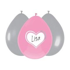 Haza Baby Girl Ballonnen (Writable) - 6 stuks