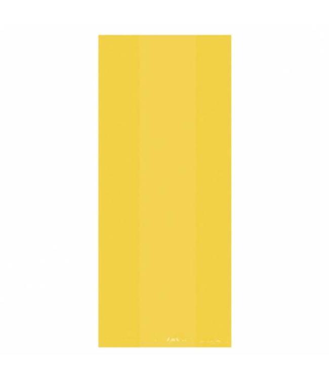 Amscan Gele Uitdeelzakjes Transparant - 25 stuks - plastic