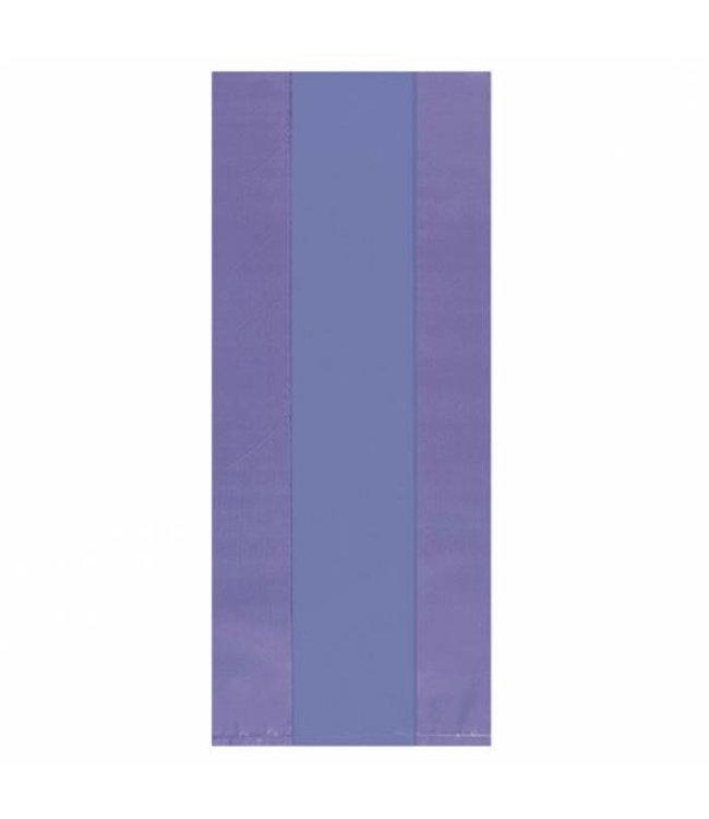 Amscan Lila Uitdeelzakjes Transparant - 25 stuks - plastic