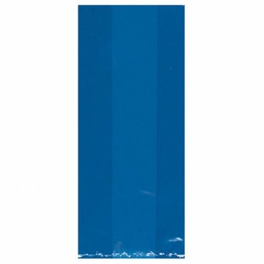 Amscan Donkerblauwe Uitdeelzakjes Transparant - 25 stuks - plastic