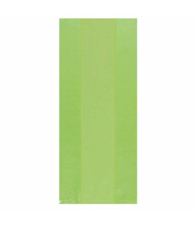 Amscan Lichtgroene Uitdeelzakjes Transparant - 25 stuks - plastic