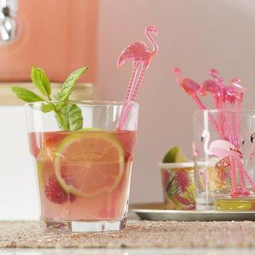 Ginger Ray Flamingo Fun Roerstaafjes - 15 stuks - plastic
