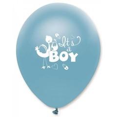 Creative Party Geboorte Ballonnen Blauw 'It's a Boy' - 6 stuks