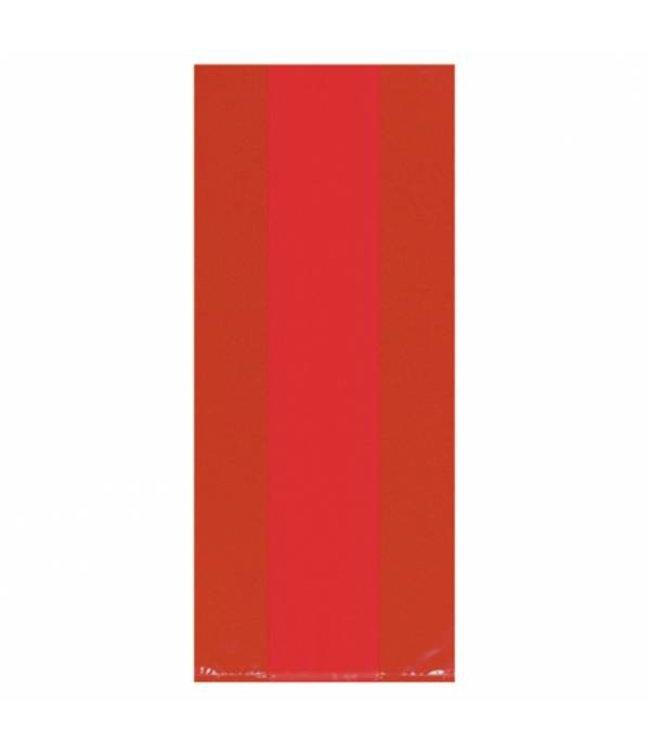 Amscan Rode Uitdeelzakjes Transparant - 25 stuks - plastic