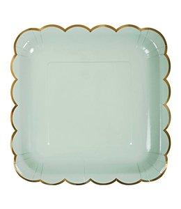 Meri Meri Pastel Borden (4 kleuren) - 8 stuks - 23 cm