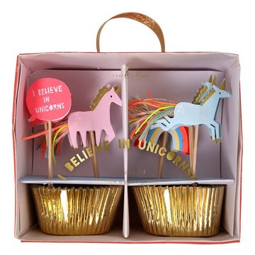 Meri Meri I Believe in Unicorns Cupcakes Set - 24 stuks