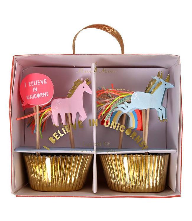 Meri Meri I Believe in Unicorns Cupcakes Set - 24 stuks