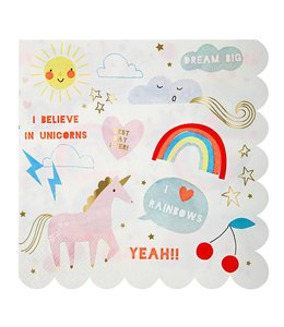 Meri Meri I Believe in Unicorns Servetten - 16 stuks