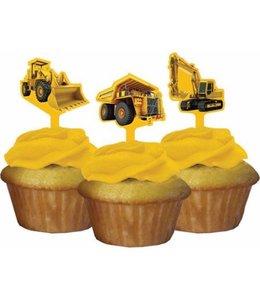 Creative Converting Constructie Bouwplaats Cupcake Toppers - 12 stuks