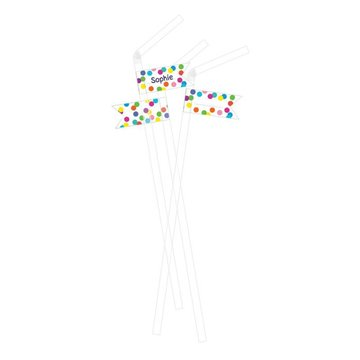 Haza Confetti Party Rietjes - 10 stuks