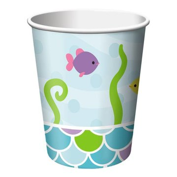 Creative Party Mermaid Friends Bekers - 8 stuks