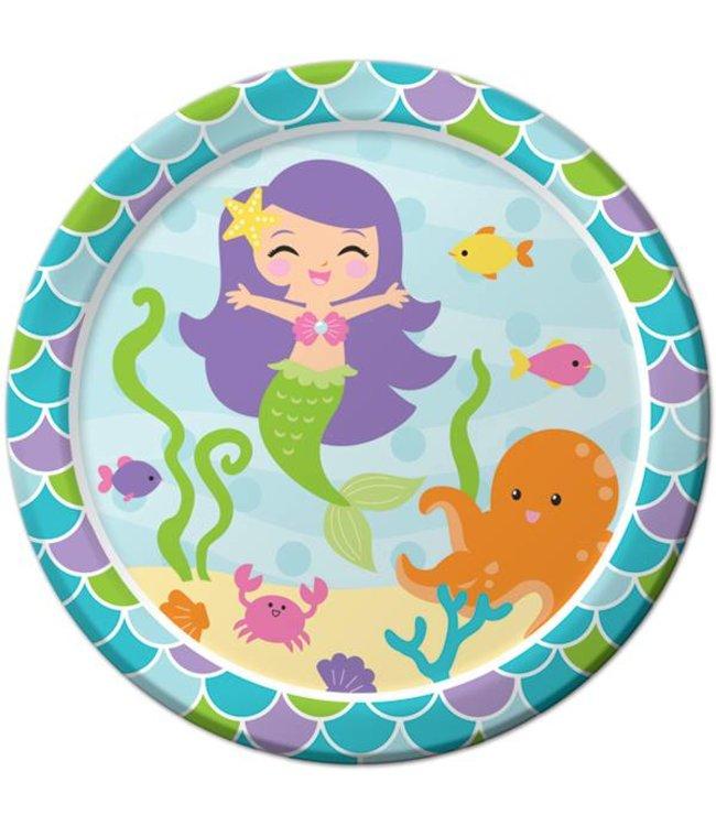 Creative Converting Mermaid Friends Borden - 8 stuks - 23 cm