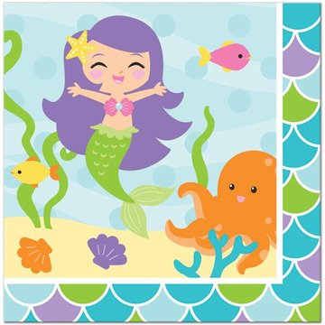 Creative Converting Mermaid Friends Servetten - 16 stuks