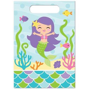 Creative Party Mermaid Friends Uitdeelzakjes - 8 stuks