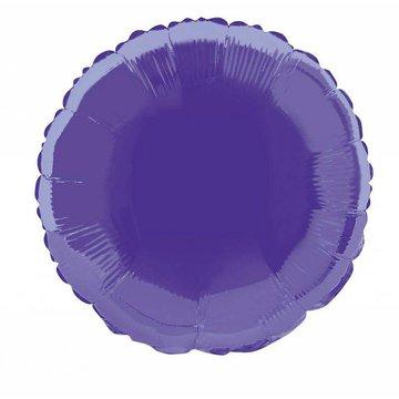Unique Folieballon Rond Paars - 46 cm