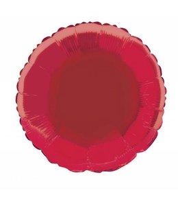 Unique Folieballon Rond Rood - 46 cm