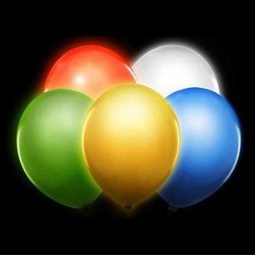 Partydeco LED Ballonnen 5 kleuren - 5 stuks - 30 cm