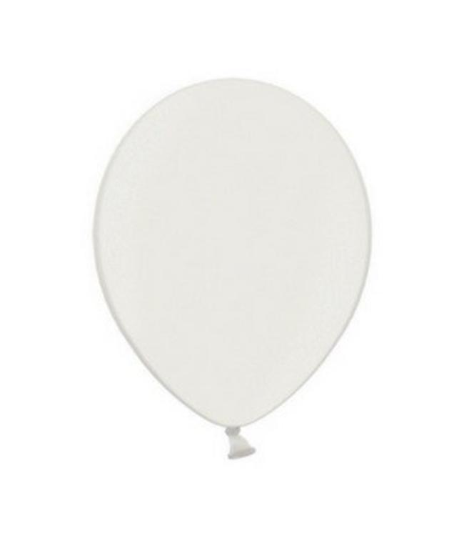 Partydeco Metallic Ballonnen Wit - 10 stuks - 30 cm