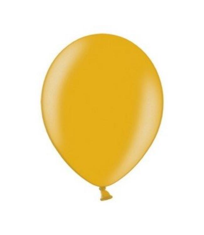 Partydeco Metallic Ballonnen Goud - 10 stuks - 30 cm