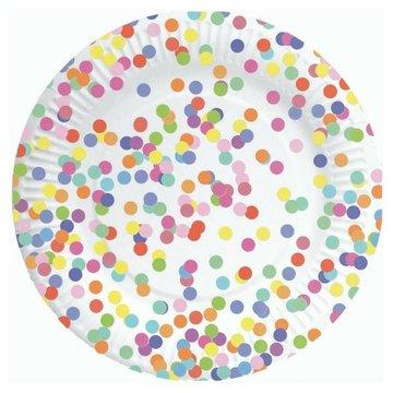 Haza Confetti Party Borden - 8 stuks - 23 cm