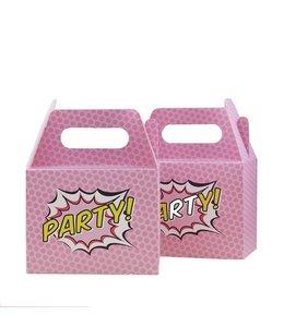 Ginger Ray Pop Art Superheldinnen Uitdeeldoosjes - 5 stuks