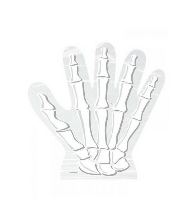 Unique Skelet Hand Uitdeelzakjes Transparant - 10 stuks