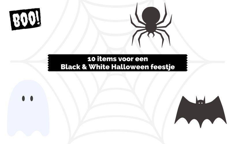 10 items voor een monochroom Halloween feestje