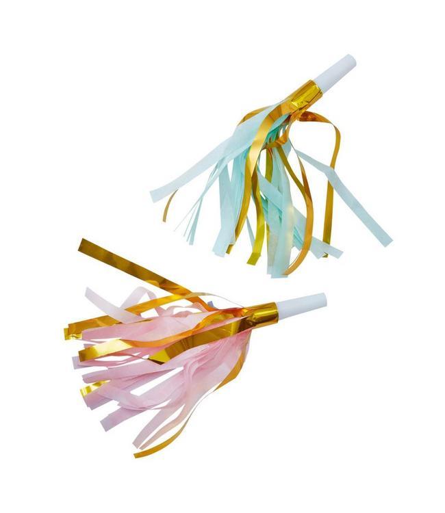 Ginger Ray Tassel Party Toeters - 10 stuks - goud, roze en mint